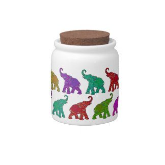Elephant Walk pattern tiles design Candy Dishes