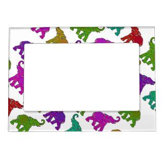 Elephant Walk pattern tiles design Magnetic Frame