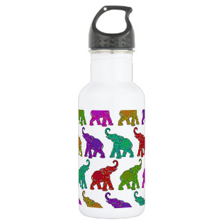 Elephant Walk pattern tiles design Stainless Steel Water Bottle
