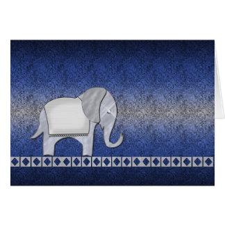 Elephant Walk Silver/Blue Card