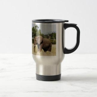 Elephant walking Masai Mara, Kenya travel mug