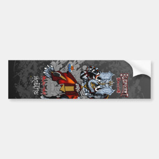Elephant Warrior - Muay-Thai Walk - 4 Bumper Sticker