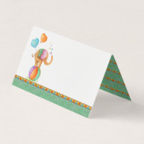 Elephant watercolor art baby shower place cards