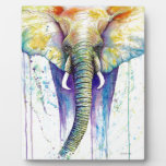 Elephant watercolor art plaques