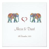 Elephant Wedding Invitation