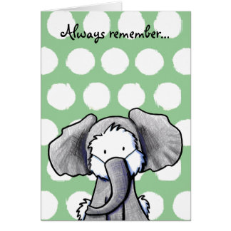 Elephant Westie Terrier Card