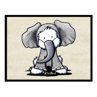 Elephant Westie Terrier Postcard