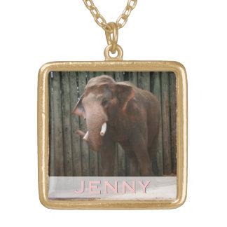Elephant Wildlife Photography for Animal Lovers Custom Necklace