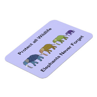 Elephant Wildlife Protection Premium Magnet