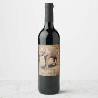 ELEPHANT WINE LABEL