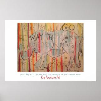 Elephant Wisdom Poster