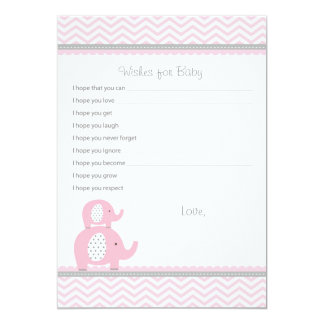 Elephant Wishes for Baby Advice Cards Custom Invitations