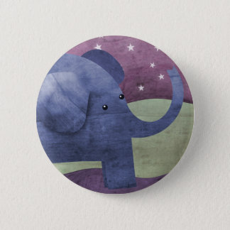 Elephant wishes upon a star - button badge