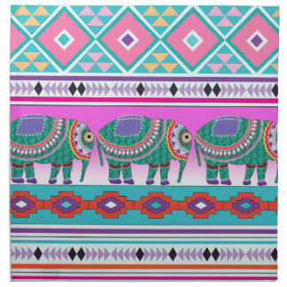 Elephant with Aztec Pattern Napkin