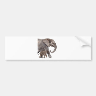 Elephant with Baby Elephant Bumper Sticker