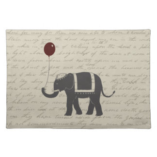 Elephant with Balloon Placemat