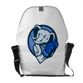 Elephant With Boxing Gloves Democrat Mascot Courier Bag