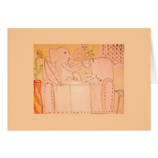 elephant with cats cards