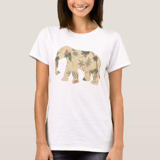 Elephant with Cherry Tree background T-Shirt