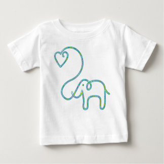 ELEPHANT with heart Baby T-Shirt