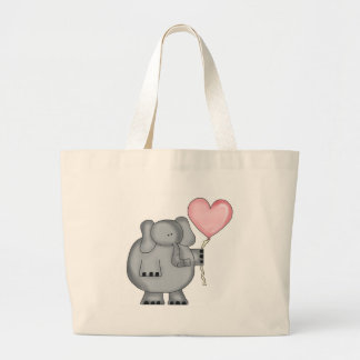 Elephant with Heart Balloon Bag