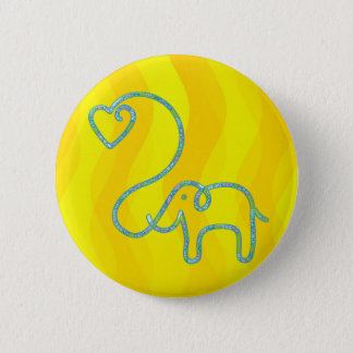 ELEPHANT with heart Pinback Button