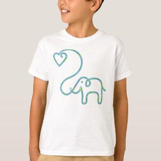 ELEPHANT with heart T-Shirt