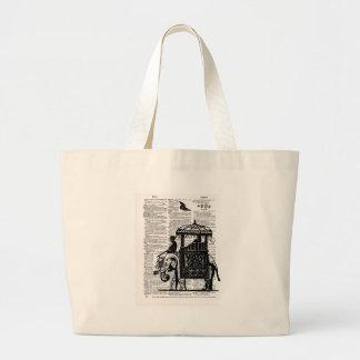 Elephant with Howdah Dictionary Art Canvas Bag