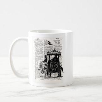 Elephant with Howdah Dictionary Art Coffee Mug