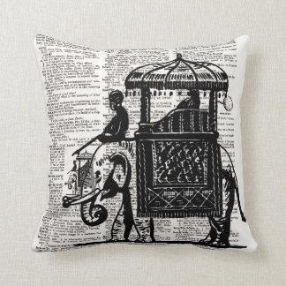 Elephant with Howdah Dictionary Art Throw Pillow