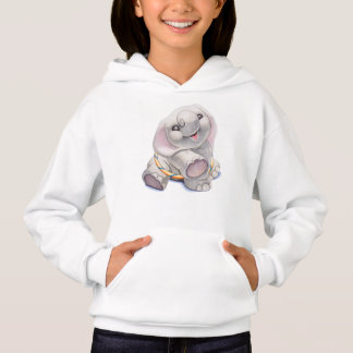 Elephant with Hula-Hoop Hoodie for Girls