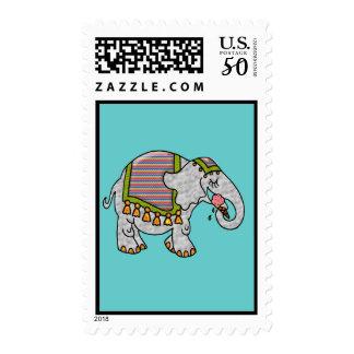 Elephant with Ice Cream Cone Blank Postage