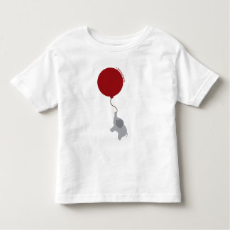 Elephant with Red Balloon Shirt