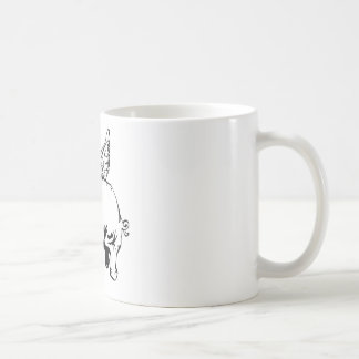 elephant with wings and chain coffee mug