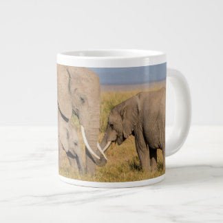 Elephant with Young Large Coffee Mug