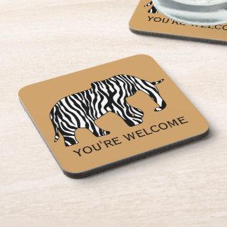 Elephant with Zebra Stripes + your ideas Coaster