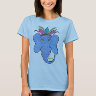 "Elephant Women's Basic T-Shirt ""Sanaa"""