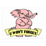Elephant Won't Forget Postcard
