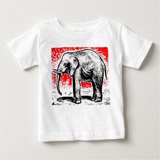 Elephant Woodcut Baby T-Shirt