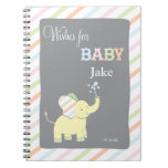 Elephant  |  Words of Advice Baby Shower Notepad Spiral Note Book