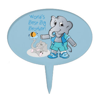 Elephant, World's Best Big Brother Cake Topper