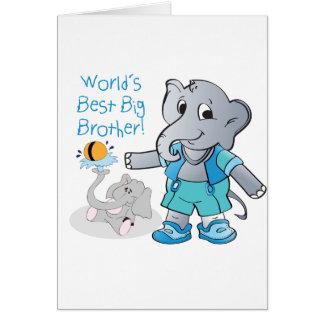 Elephant, World's Best Big Brother Card