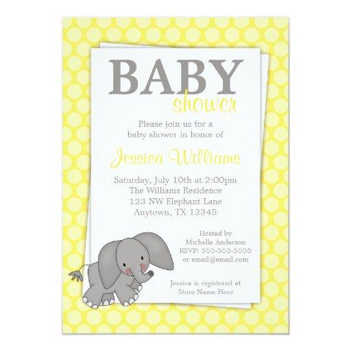 dots gender neutral baby shower 5x7 paper invitation card zazzle