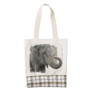 Elephant Zazzle HEART Tote Bag