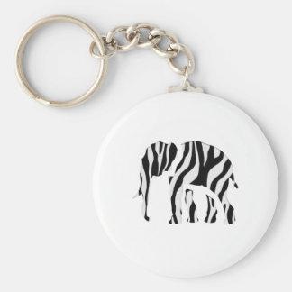 Elephant Zebra: Wild Mash-Up Keychain