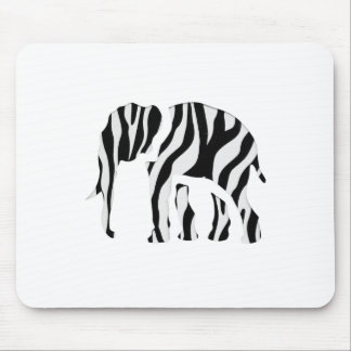 Elephant Zebra: Wild Mash-Up Mouse Pad