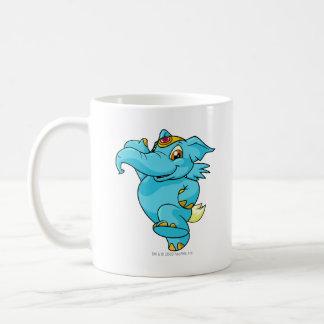 Elephante Blue Classic White Coffee Mug