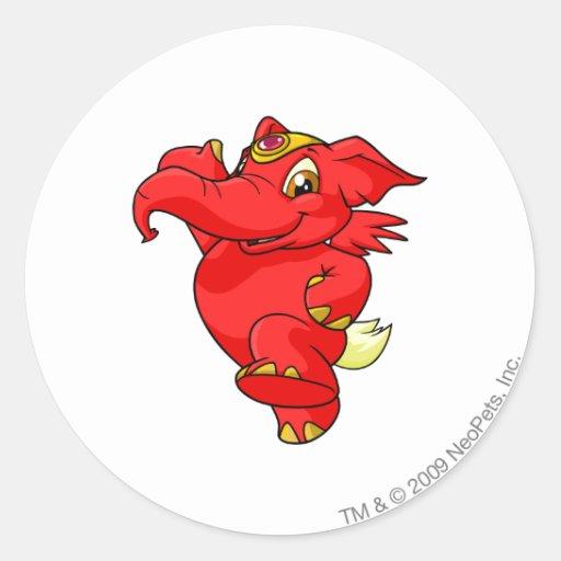 Elephante Red Stickers