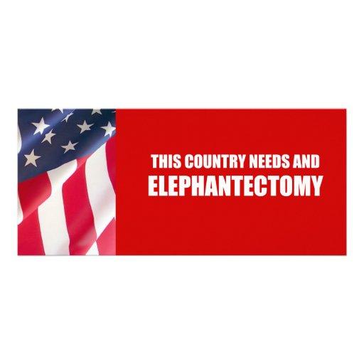 Elephantectomy Tarjetas Publicitarias