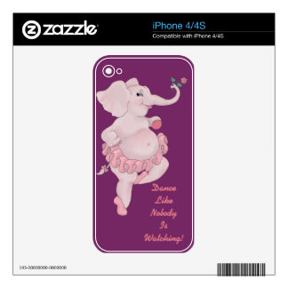 Elephantina Ballerina Decals For The iPhone 4S